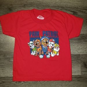 🎄 2T Paw Patrol Red Shortsleeve Graphic Tshirt